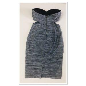 bebe Dresses - Bebe Strapless Cutout midi pencil bodycon dress